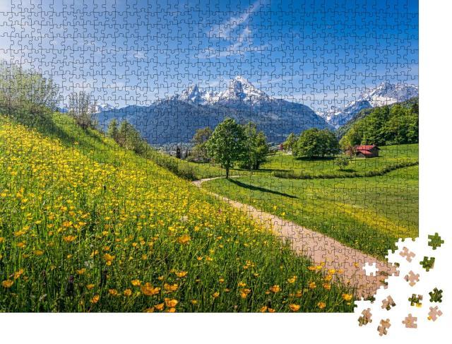 """Puzzle 1000 Teile """"INationalpark Berchtesgadener Land, Bayern, Deutschland"""""""