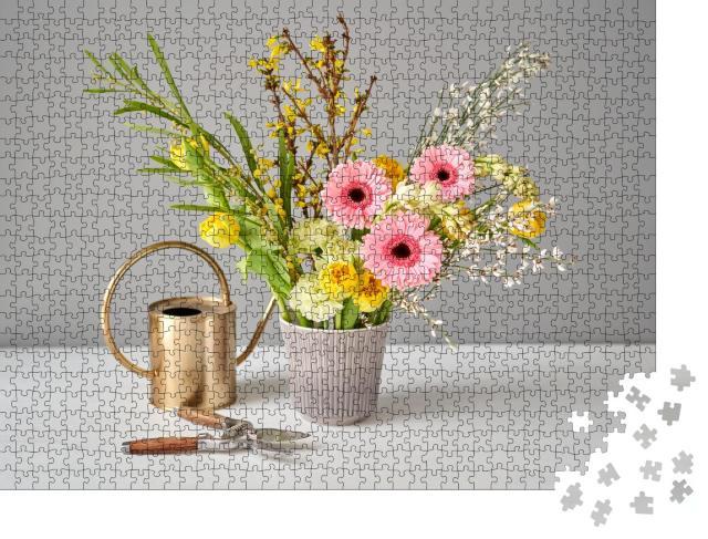 """Puzzle 1000 Teile """"Frische Schnittblumen für die Dekoration zu Hause"""""""