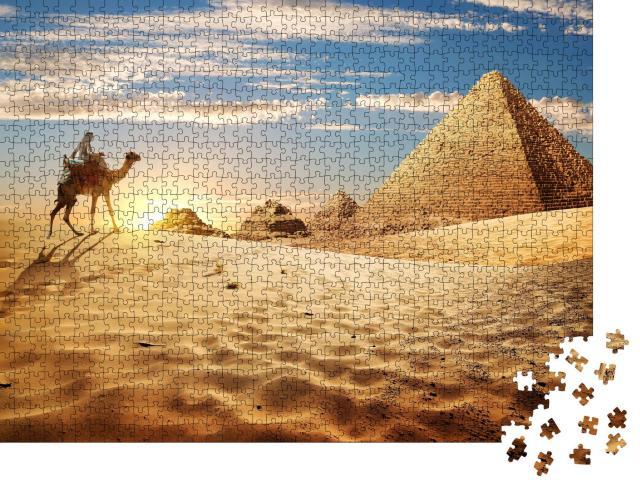 """Puzzle 1000 Teile """"Sonnenuntergang in der Wüste"""""""