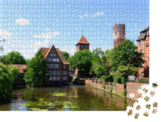 """Puzzle 1000 Teile """"Kanäle der Stadt Lüneburg, Deutschland"""""""