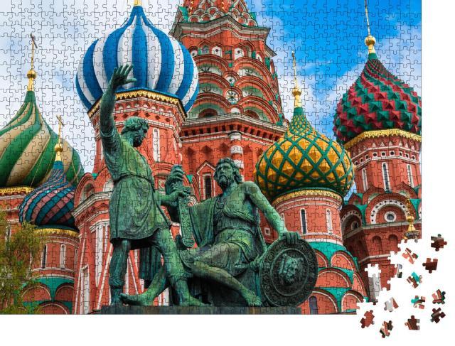 """Puzzle 1000 Teile """"Die Basilius-Kathedrale auf dem Roten Platz in Moskau, Russland"""""""