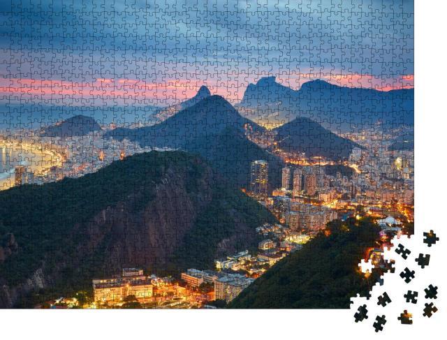 """Puzzle 1000 Teile """"Nachtansicht von Rio de Janeiro, Brasilien"""""""