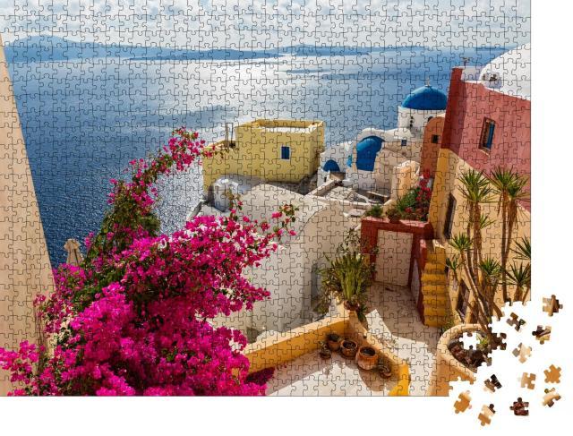 """Puzzle 1000 Teile """"Santorini, Griechenland"""""""