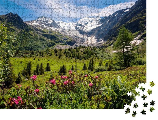"""Puzzle 1000 Teile """"Tour du Mont Blanc in den französischen Alpen"""""""