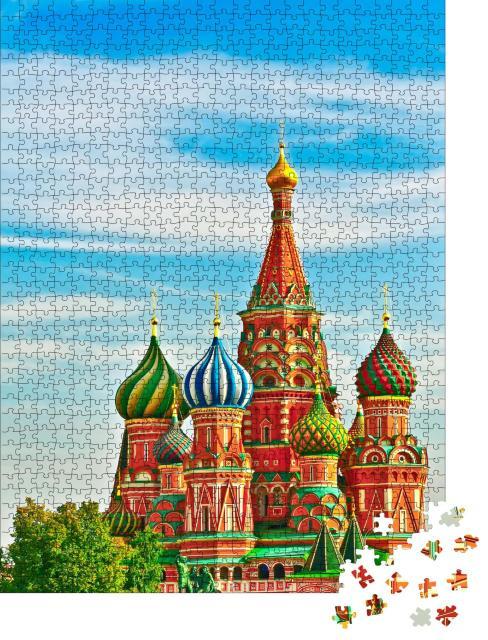 "Puzzle 1000 Teile ""Kathedrale auf dem Roten Platz, Moskau"""