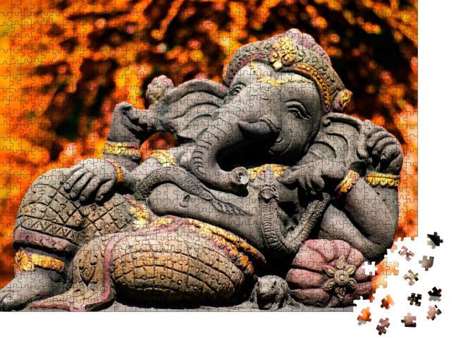 """Puzzle 1000 Teile """"Ganesha ist der Gott des Erfolgs im Hinduismus und Buddhismus"""""""
