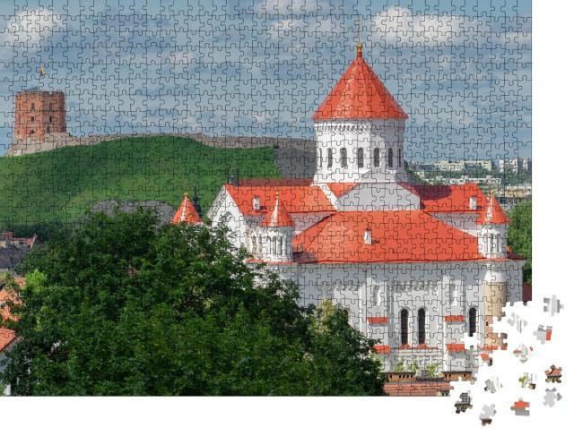 """Puzzle 1000 Teile """"Altstadt von Vilnius mit Kathedrale der Theotokos"""""""