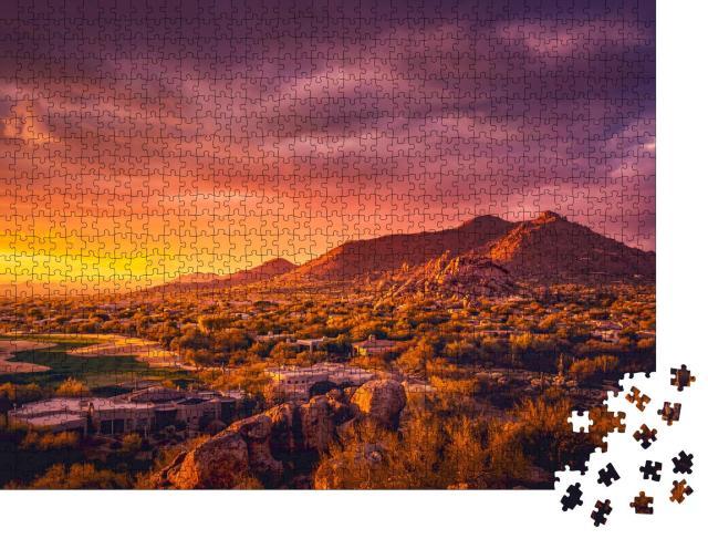 """Puzzle 1000 Teile """"Abendstimmung über Scottsdale, Arizona"""""""