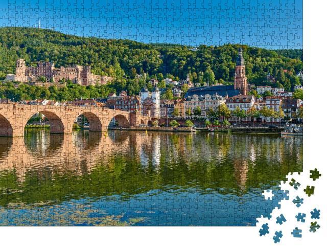 """Puzzle 1000 Teile """"Karl-Theodor-Brücke, Heidelberg"""""""