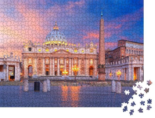 """Puzzle 1000 Teile """"Sonnenaufgang über der Vatikanstadt in Rom"""""""
