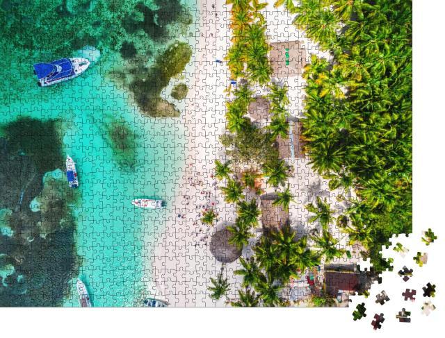 """Puzzle 1000 Teile """"Tropisches Paradies, Insel Saona, Dominikanische Republik"""""""