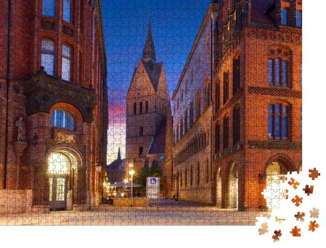 """Puzzle 1000 Teile """"Altstadt von Hannover, Deutschland"""""""