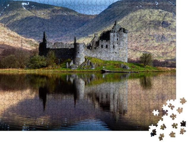 """Puzzle 1000 Teile """"Geheimnisvolles Kilchurn Castle, Dalmally, Schottland"""""""