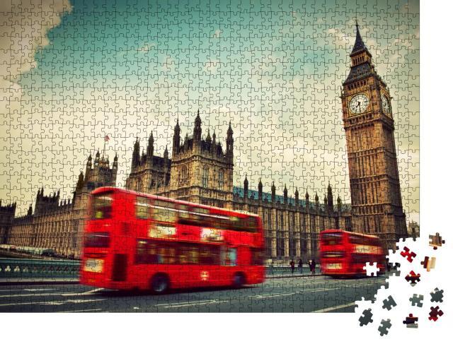 """Puzzle 1000 Teile """"Die roten Busse von London"""""""