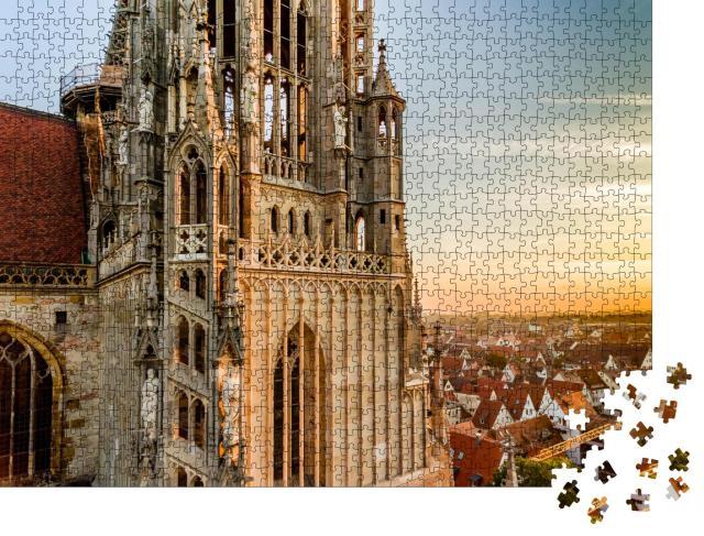 """Puzzle 1000 Teile """"Ulmer Münster, Deutschland, höchster Kirchturm der Welt"""""""