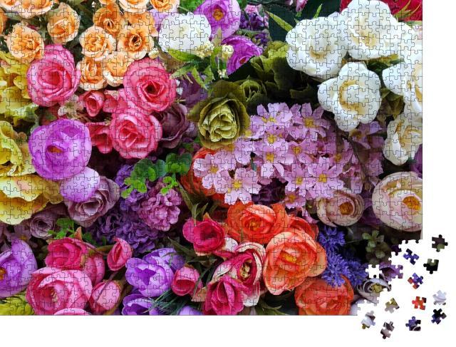 """Puzzle 1000 Teile """"Ein wunderschönes Blütenmeer"""""""
