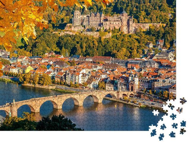 """Puzzle 1000 Teile """"Blick auf Heidelberg im Herbst"""""""