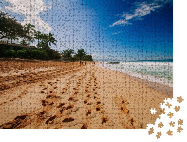"""Puzzle 1000 Teile """"Paradiesischer Strand in den Tropen"""""""