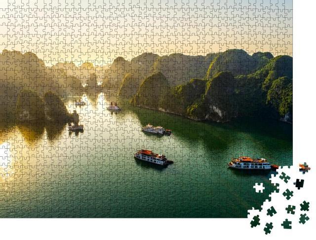"Puzzle 1000 Teile ""Halong-Bucht, Vietnam, Südostasien, UNESCO-Weltkulturerbe"""