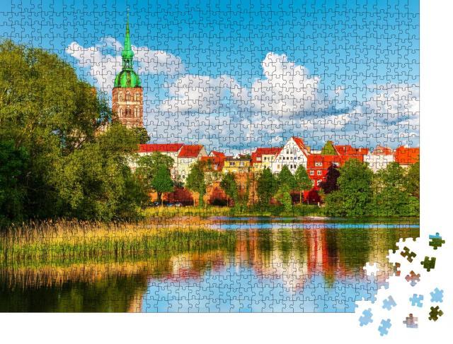"""Puzzle 1000 Teile """"Sommerpanorama von Stralsund, Mecklenburg, Deutschland"""""""