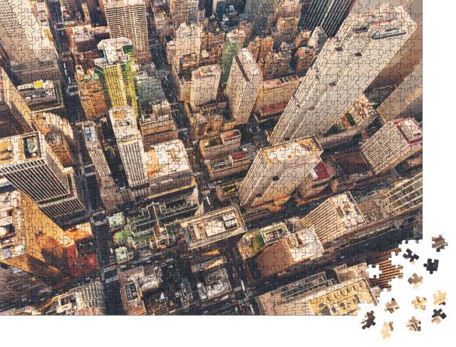 """Puzzle 1000 Teile """"Luftaufnahme von Midtown Manhattan mit Blick auf die St. Patrick's Cathedral"""""""
