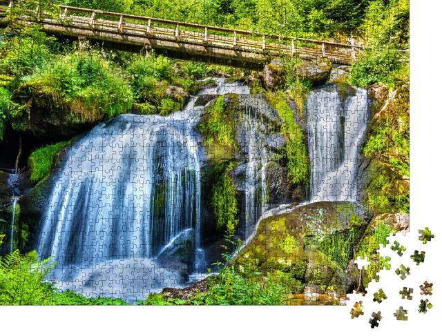 """Puzzle 1000 Teile """"Die Triberger Wasserfälle im Schwarzwald gehören zu den höchsten in Deutschland"""""""