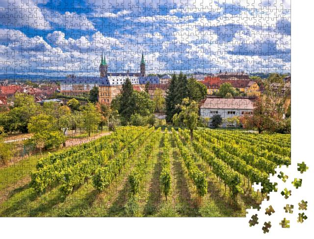 """Puzzle 1000 Teile """"Blick von den Weinbergen des Michaelsbergs, Bamberg, Deutschland"""""""