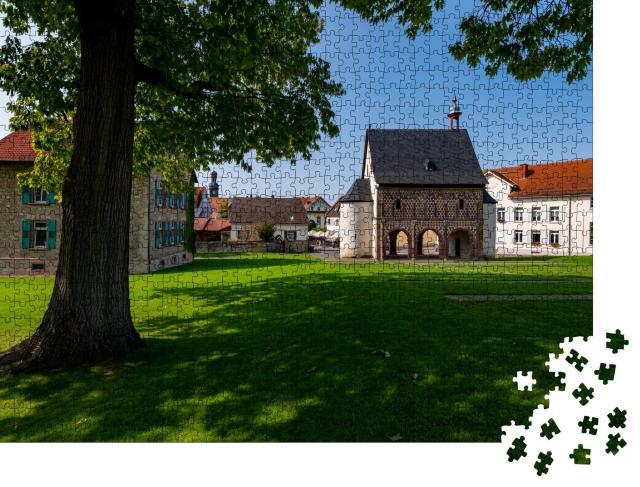 """Puzzle 1000 Teile """"Kloster zu Lorsch mit Königssaal und Klosterhügel bei Worms in Hessen"""""""