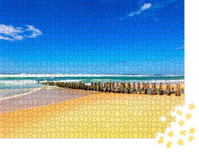 """Puzzle 1000 Teile """"Wunderschöner Blick auf den Strand von Seignosse, Frankreich"""""""