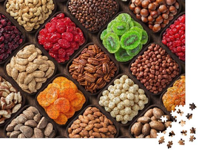 """Puzzle 1000 Teile """"Auswahl an gesunden und leckeren Snacks"""""""