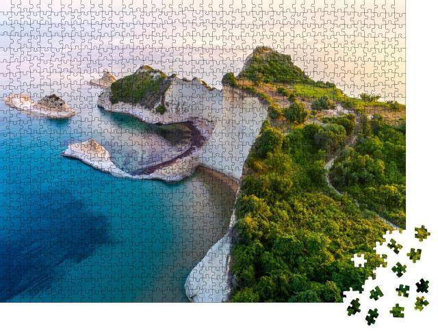 """Puzzle 1000 Teile """"Schöne Aussicht auf Kap Drastis, Korfu, Griechenland"""""""