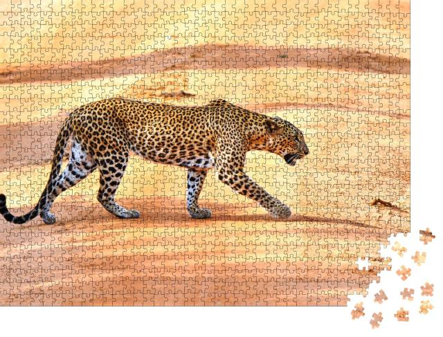 """Puzzle 1000 Teile """"Leopardenjagd in Afrika"""""""