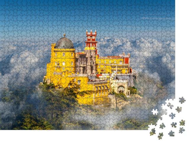 """Puzzle 1000 Teile """"Palácio Nacional da Pena über den Wolken, Region Sintra, Portugal"""""""