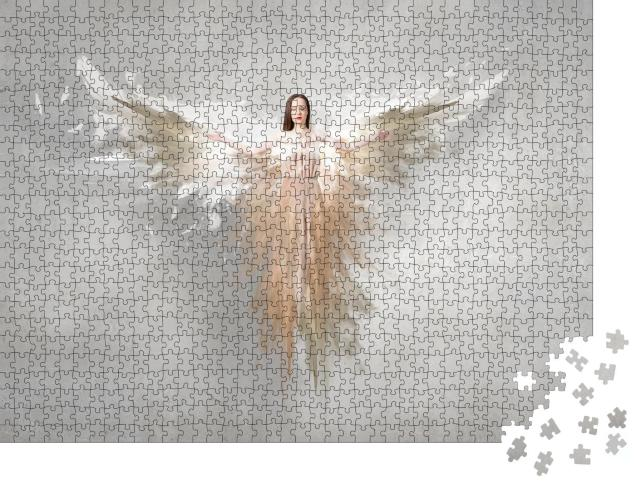 """Puzzle 1000 Teile """"Engelhafte schöne Frau"""""""