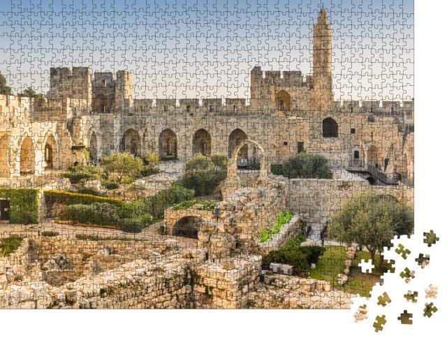 """Puzzle 1000 Teile """"Der Davidsturm über Jerusalem"""""""