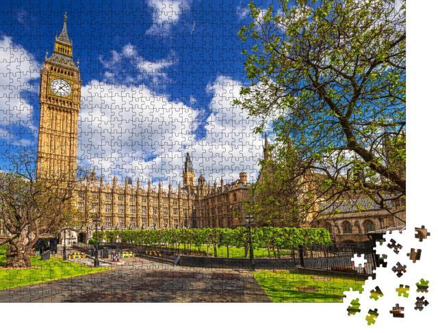 """Puzzle 1000 Teile """"Big Ben und der Palace of Westminster, Wahrzeichen von London"""""""
