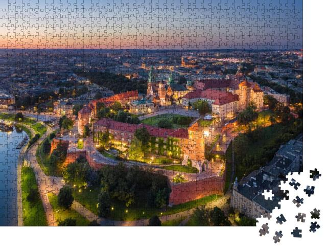 "Puzzle 1000 Teile ""Königsschloss Wawel bei Sonnenuntergang, Krakau, Polen"""