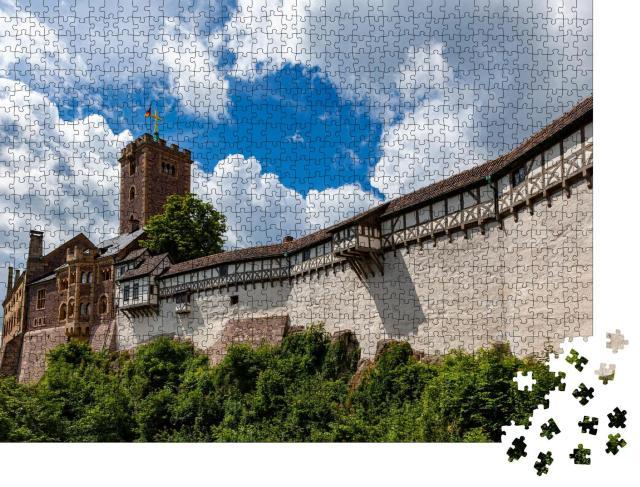 """Puzzle 1000 Teile """"Die eindrucksvolle Wartburg in Thüringen, Deutschland, Touristenattraktion"""""""
