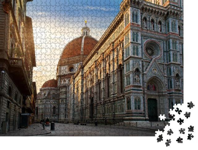 "Puzzle 1000 Teile ""Piazza del Duomo und Kathedrale von Santa Maria, Florenz, Italien"""