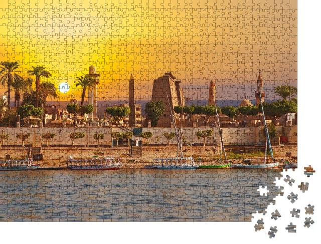"""Puzzle 1000 Teile """"Sonniger Tag am Nil in Luxor, Ägypten"""""""