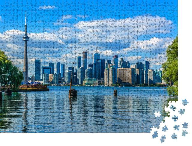 """Puzzle 1000 Teile """"Die schöne Skyline von Toronto über dem See. Toronto, Ontario, Kanada"""""""