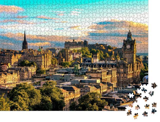 """Puzzle 1000 Teile """"Skyline von Edinburgh vom Calton Hill aus gesehen, Schottland"""""""