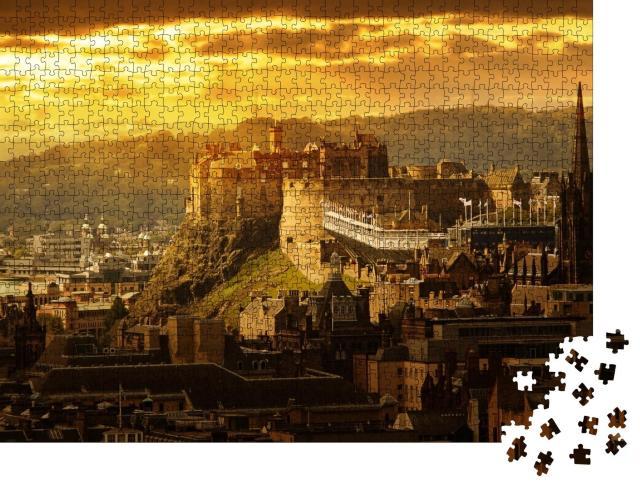 "Puzzle 1000 Teile ""Verzaubertes Edinburgh Castle, Schottland"""