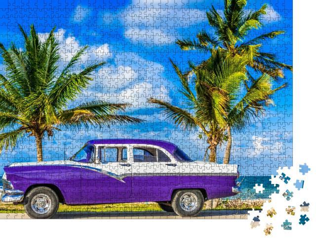 """Puzzle 1000 Teile """"Klassischer Oldtimer in Havanna, Kuba"""""""