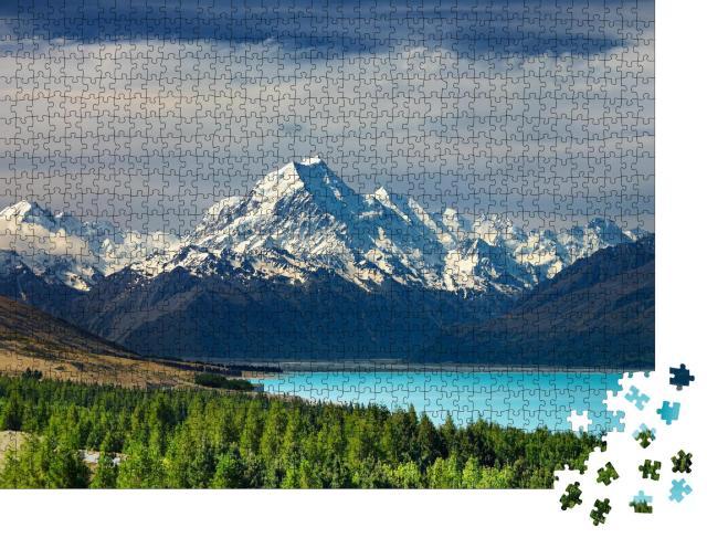 "Puzzle 1000 Teile ""Mount Cook und Pukaki See, Neuseeland"""