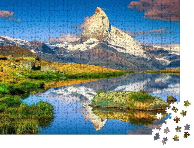 """Puzzle 1000 Teile """"Spektakuläres Matterhorn und herrlicher Stellisee, Zermatt, Schweiz"""""""