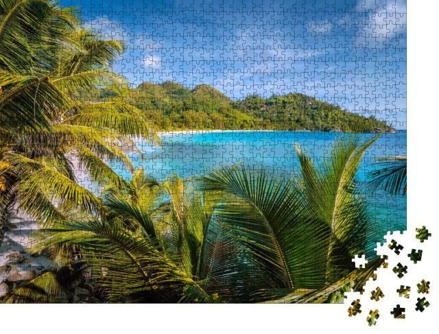 """Puzzle 1000 Teile """"Exotisches Strandparadies auf der Insel Mahe, Seychellen"""""""