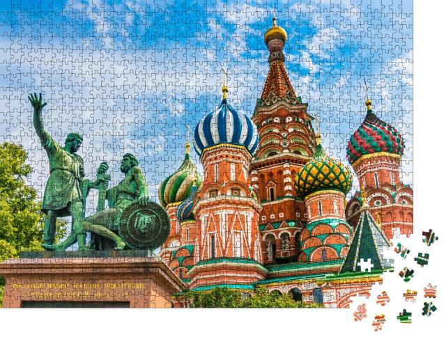 """Puzzle 1000 Teile """"St. Basils Kathedrale auf dem Roten Platz in Moskau, Russland"""""""
