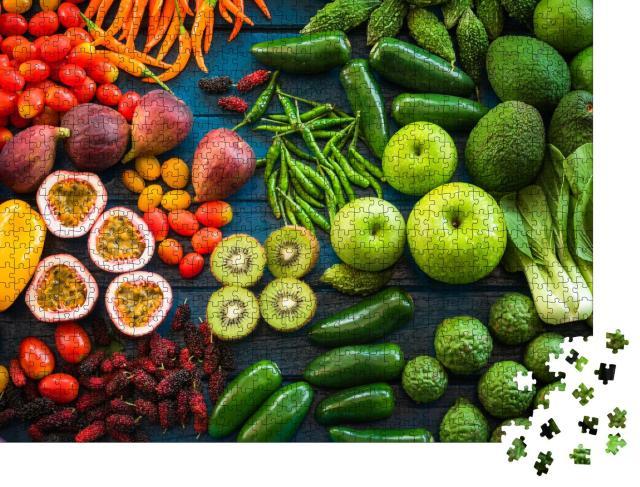"""Puzzle 1000 Teile """"Obst und Gemüse: vitaminreiche Ernährung"""""""