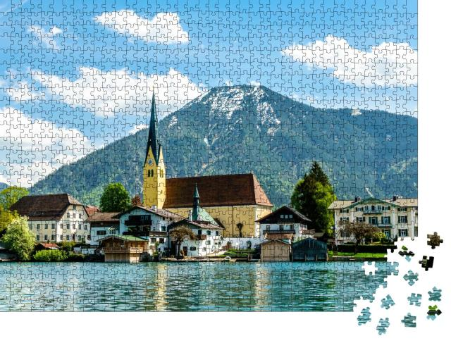 """Puzzle 1000 Teile """"Tegernsee in Bayern, Deutschland"""""""